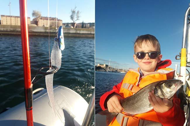 Silic Leurres paillettes têtes plombées, ça marche aussi en lancer bord ou bateau, même avec les enfants le mercredi !